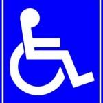 Rollstuhl-blau